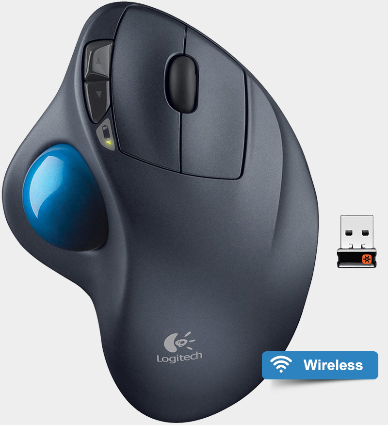 Logitech Wireless Trackball M570 top