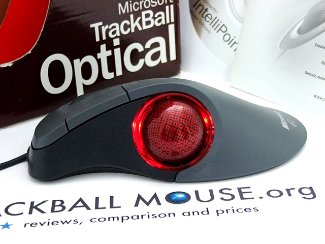 Microsoft Trackball Optical red light