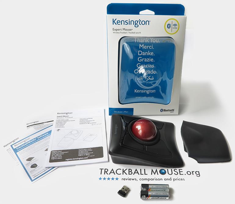 Kensington Expert Wireless Trackball mouse box open