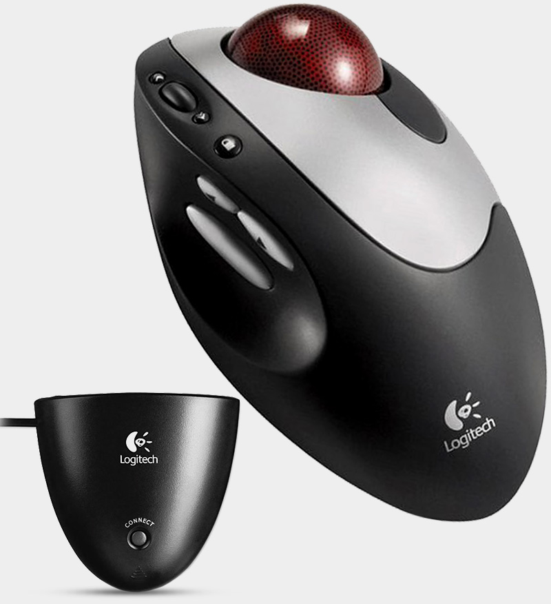 ncis trackball mouse logitech cordless optical trackman