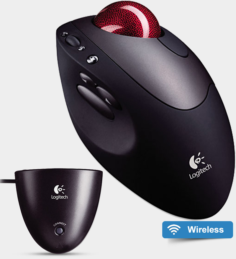 Logitech Cordless Optical Trackman Trackball