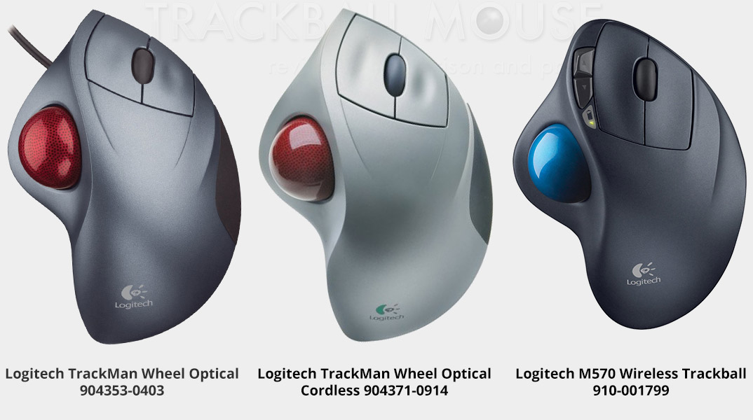 this Logitech Trackman Wheel Optical compare M570 and cordless