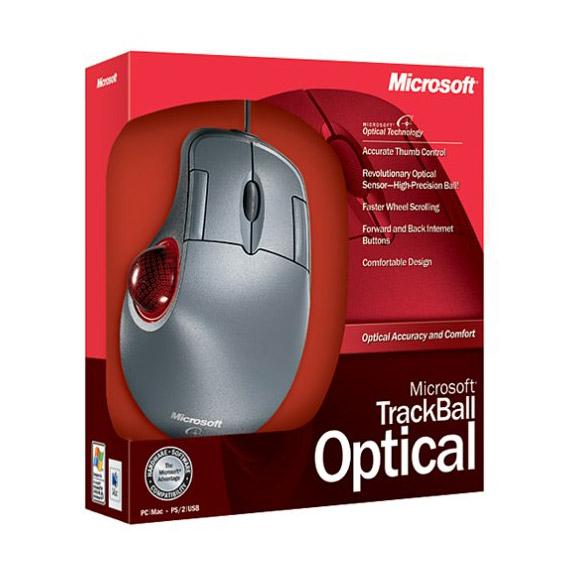 Microsoft thumb trackball