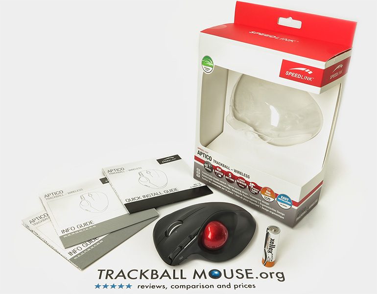 Speedlink Aptico Wireless trackball packaging box