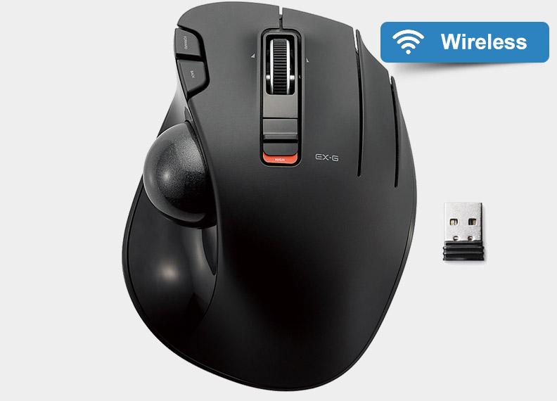 elecom m-xt3drbk wireless trackball