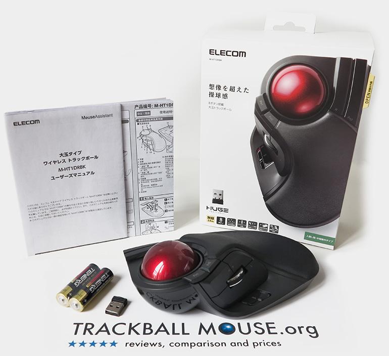 Elecom M-HT1DRBK Wireless Trackball Box Unboxing Packaging