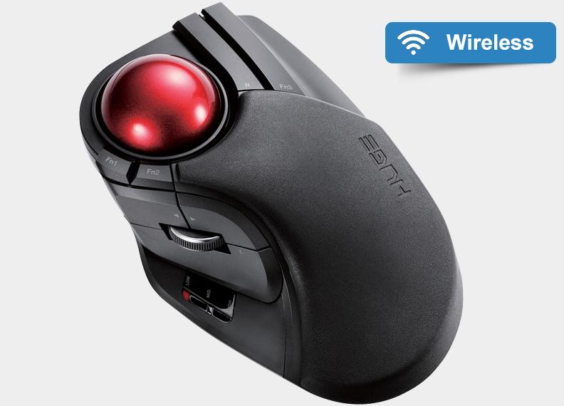 5c81195f51c Elecom M-HT1DRBK HUGE Wireless Trackball - Trackball Mouse Reviews
