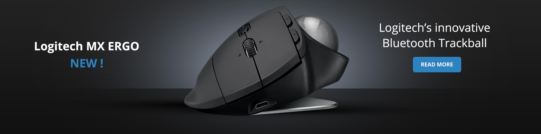 Logitech MX ERGO wireless trackball bluetooth vertical mouse new