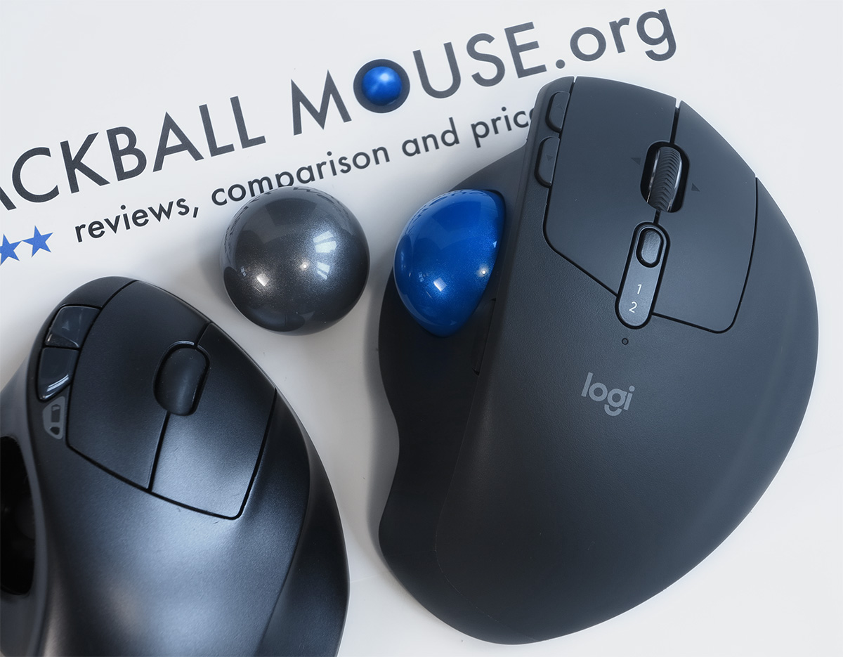 Compare Loitech MX ERGO ball and M570 trackball